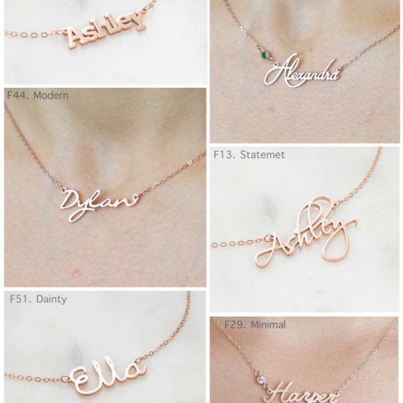 8013caeef ... 4 Name Necklace • Multiple Name Necklace • Custom Children Name •  Personalized Family Necklace by ...