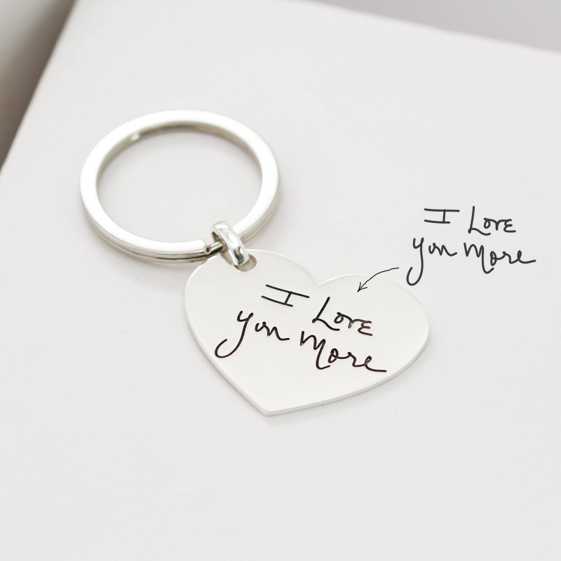 Kid Drawing Keychain • Engraved Baby