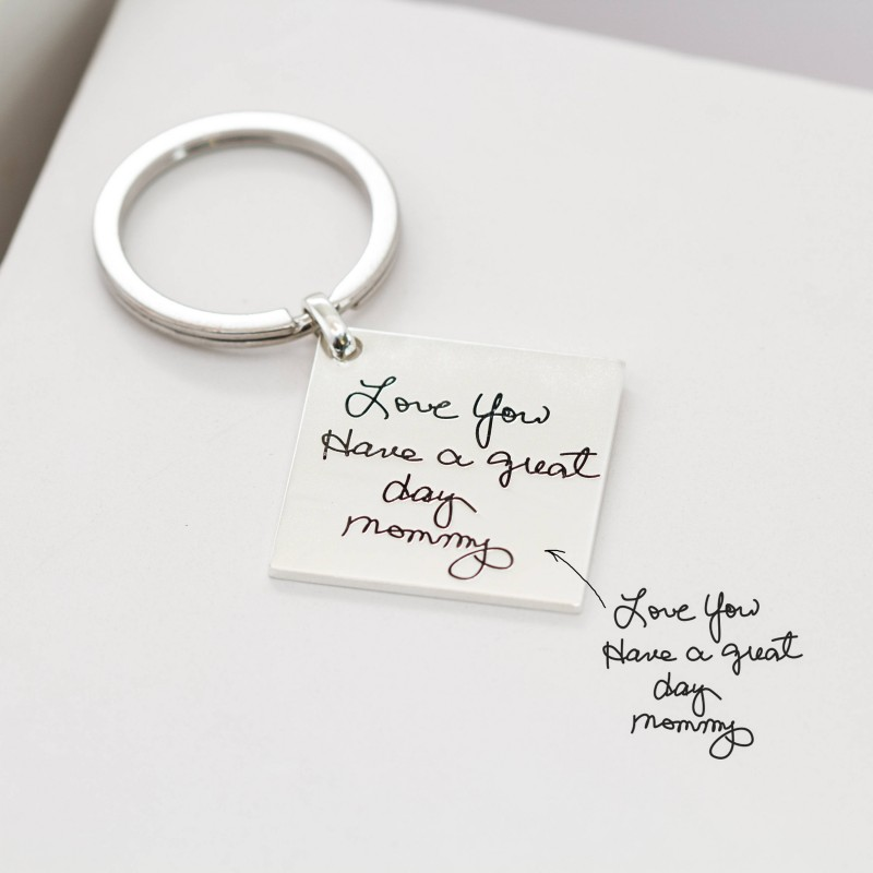 Christmas Ideas For Kids Drawing.Best Mother S Gift Kids Drawing Keychain Engraved Baby