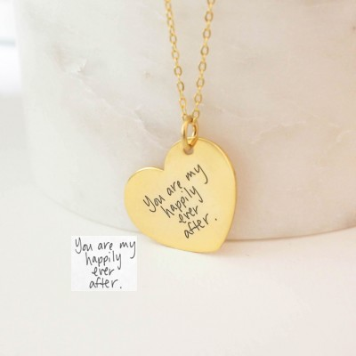Handwriting jewelry memorial heart necklace handwriting heart handwriting jewelry memorial heart necklace handwriting heart charm signature necklace keepsake jewelry aloadofball Image collections