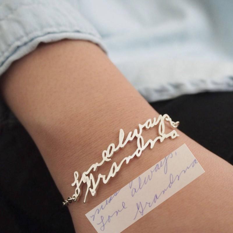 ... Kidu0027s Handwriting Bracelet u2022 Personalized Meaningful Gift for Mom u2022 Custom Children Signature Jewelry u2022 CHRISTMAS ... & Kidu0027s Handwriting Bracelet u2022 Personalized Meaningful Gift for Mom ...