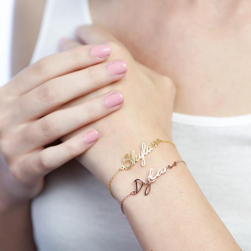 Name Bracelet Dainty Initials Bracelet Personalized Monogram