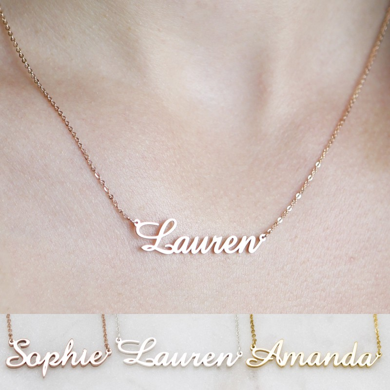 18K Custom Name Necklace   Actual Handwriting Necklace Signature Necklace  Personalized Name Necklace  Christmas Gift for Her