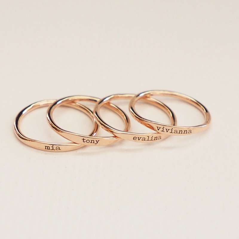 9f92ad1bade2d Personalized Skinny Ring • Custom Name Ring • Mantra Ring • Children ...