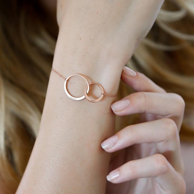 Eternity circle bracelet Eternity jewellery Gift for sister Circle bracelet Sterling silver eternity bracelet Gift for friend