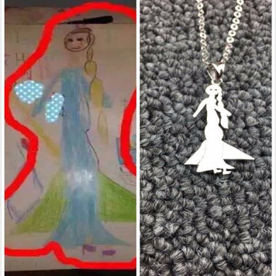 Photo engraved jewellery custom silver necklacekids painting necklaceengraved photo necklacepersonalized silver pendant aloadofball Image collections