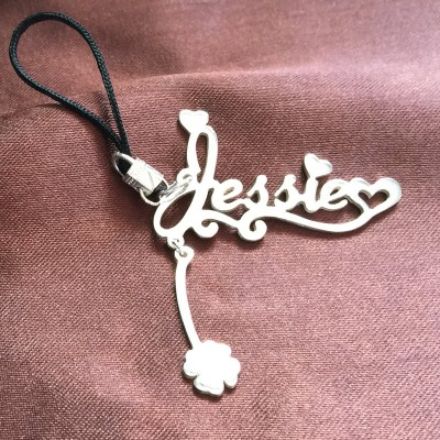 Name Keychain, Sterling Silver Keychain, Personalized Name Keychain, Monogram Keychain,