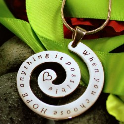 Personalised Swirl Necklace
