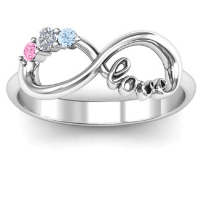 Customised Infinity Promise Ring With Birthstone Infinity Love Ring - Custom Jewellery By All Uniqueness