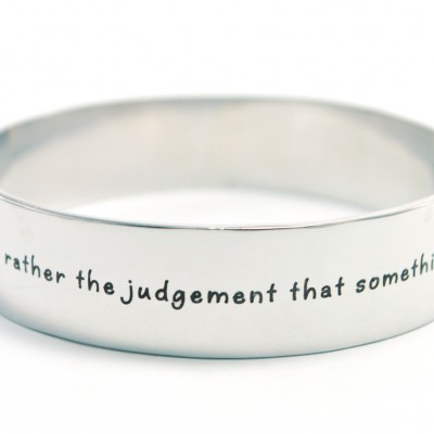 15mm Wide Endless Bangle - Silver - Custom Jewellery By All Uniqueness