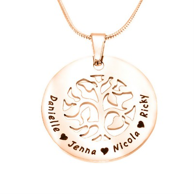 BFS Family Tree Necklace - Rose Gold Plated - Custom Jewellery By All Uniqueness