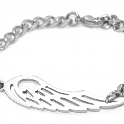 Angels Wing Bracelet - Silver - Custom Jewellery By All Uniqueness