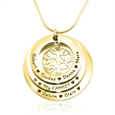 Family Triple Love - Gold Plated - Custom Jewellery By All Uniqueness