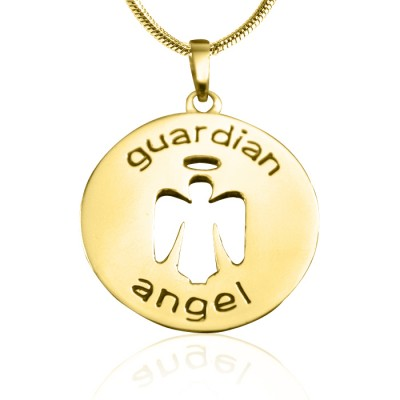 Guardian Angel Necklace 1 - Gold Plated - Custom Jewellery By All Uniqueness