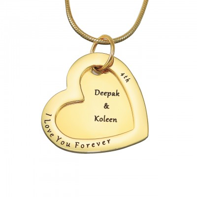 Love Forever Necklace - Gold Plated - Custom Jewellery By All Uniqueness