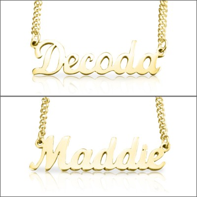 Name Necklace - Gold Plated - Custom Jewellery By All Uniqueness