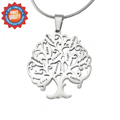 Tree of My Life Necklace 10 - Silver - Custom Jewellery By All Uniqueness