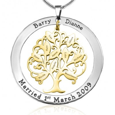 Tree of My Life Washer 10 - Two Tone - Gold Tree - Custom Jewellery By All Uniqueness