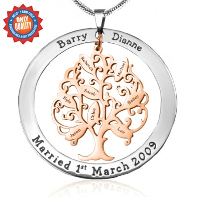 Tree of My Life Washer 8 - Two Tone - Rose Gold Tree - Custom Jewellery By All Uniqueness