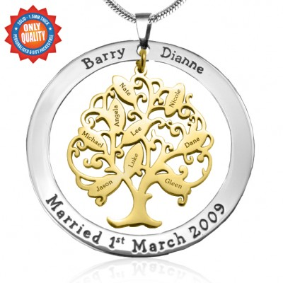 Tree of My Life Washer 9 - Two Tone - Gold Tree - Custom Jewellery By All Uniqueness