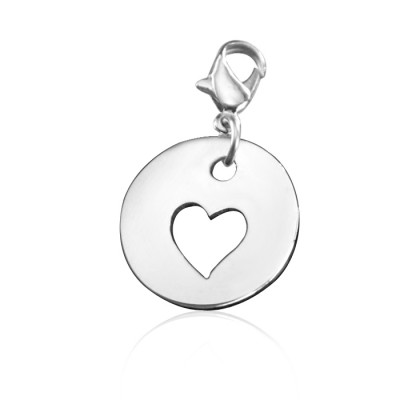 Cut Out Heart Charm - Custom Jewellery By All Uniqueness