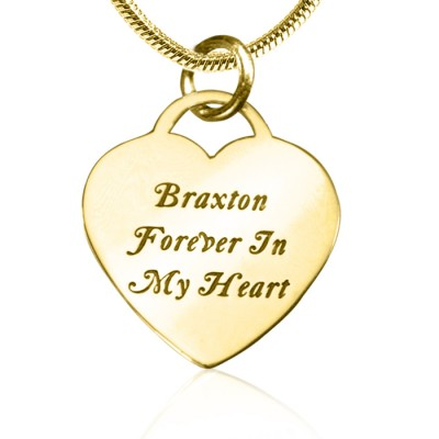 Forever in My Heart Necklace - Gold Plated - Custom Jewellery By All Uniqueness