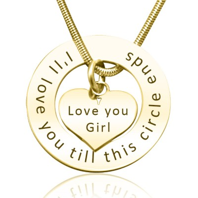 Circle My Heart Necklace - Gold Plated - Custom Jewellery By All Uniqueness