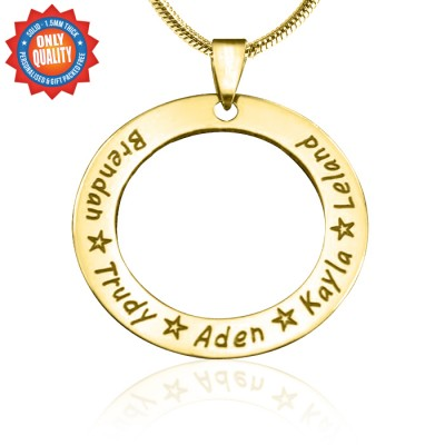 Circle of Trust Necklace - Gold Plated - Custom Jewellery By All Uniqueness