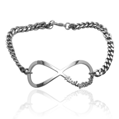 Infinity Name Bracelet/Anklet - Silver - Custom Jewellery By All Uniqueness