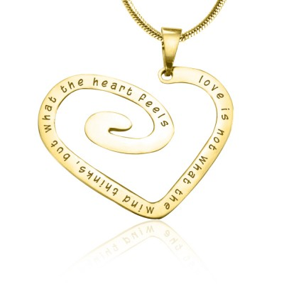 Love Heart Necklace - Gold Plated *Limited Edition - Custom Jewellery By All Uniqueness