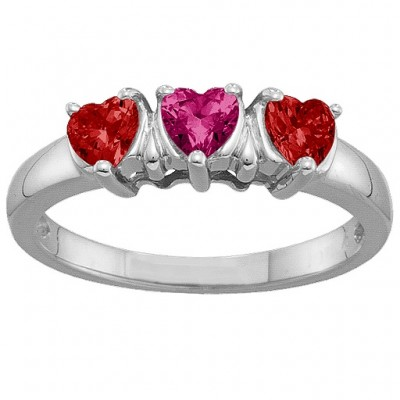 2-5 Hearts Ring - Custom Jewellery By All Uniqueness