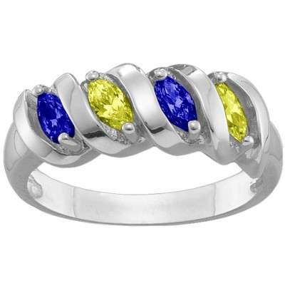 2-6 Marquise Spiral Ring - Custom Jewellery By All Uniqueness