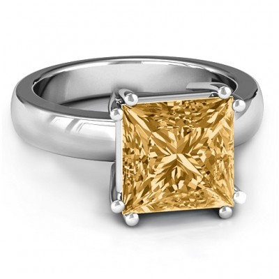 Basket Set Princess Cut Solitaire Ring - Custom Jewellery By All Uniqueness