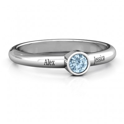Bezel Set Solitaire Ring - Custom Jewellery By All Uniqueness