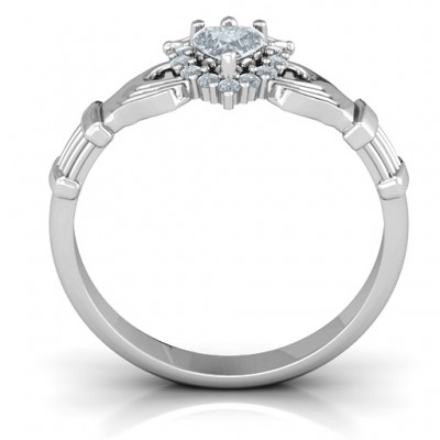 Claddagh with Halo Ring - Custom Jewellery By All Uniqueness