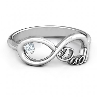Dad Infinity Ring - Custom Jewellery By All Uniqueness
