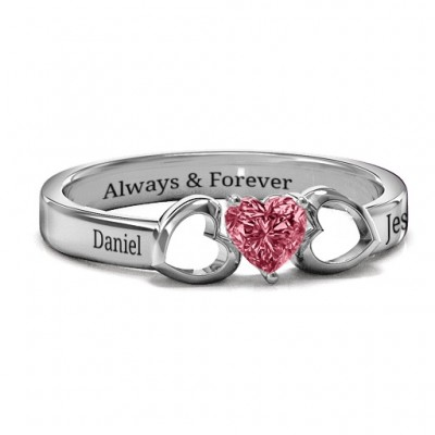 Darling Heart Wraparound Ring - Custom Jewellery By All Uniqueness