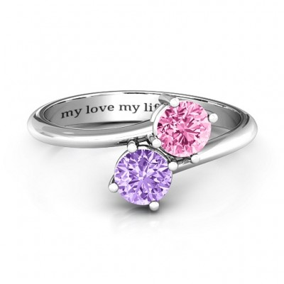 Destined For Love Double Gemstone Ring - Custom Jewellery By All Uniqueness