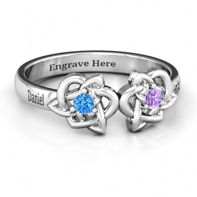 Double Celtic Gemstone Ring - Custom Jewellery By All Uniqueness