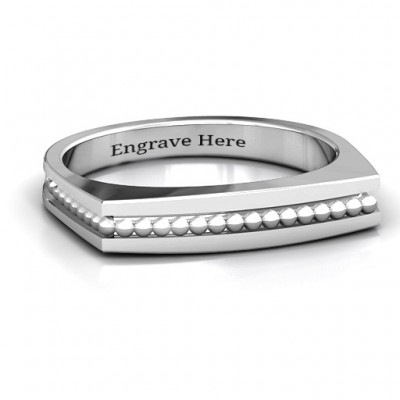 Fissure Beaded Groove Women s Ring - Custom Jewellery By All Uniqueness