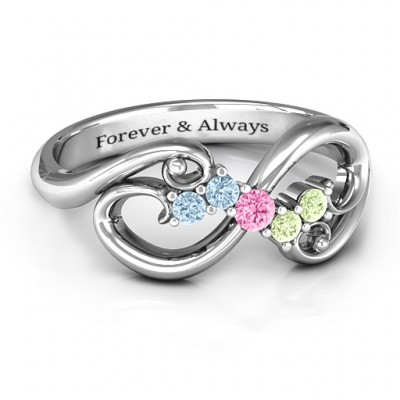 Flourish Infinity Ring with Gemstones - Custom Jewellery By All Uniqueness
