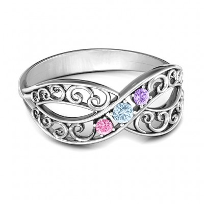 Forever Filigree Infinity Ring - Custom Jewellery By All Uniqueness