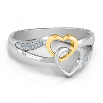 Forever Linked Hearts Ring - Custom Jewellery By All Uniqueness