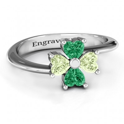 Four Heart Clover Ring - Custom Jewellery By All Uniqueness