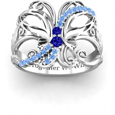 Glimmering Butterfly Ring - Custom Jewellery By All Uniqueness