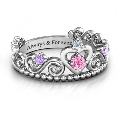 Happily Ever After Tiara Ring - Custom Jewellery By All Uniqueness
