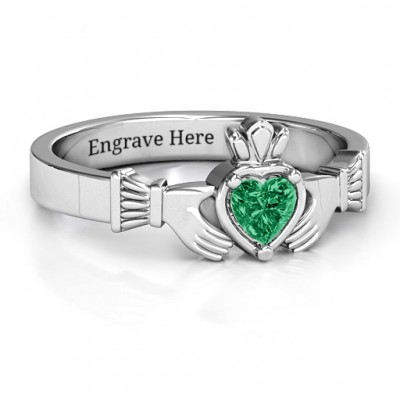 Heart Stone Claddagh Ring - Custom Jewellery By All Uniqueness