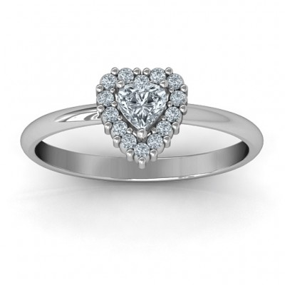 Heart with Halo Promise Ring - Custom Jewellery By All Uniqueness