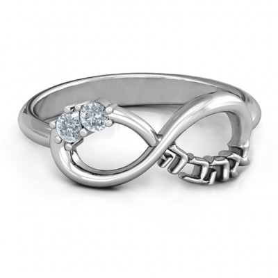 Infinity Ahava Ring - Custom Jewellery By All Uniqueness
