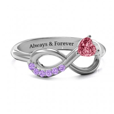 Infinity In Love Ring with Accents - Custom Jewellery By All Uniqueness